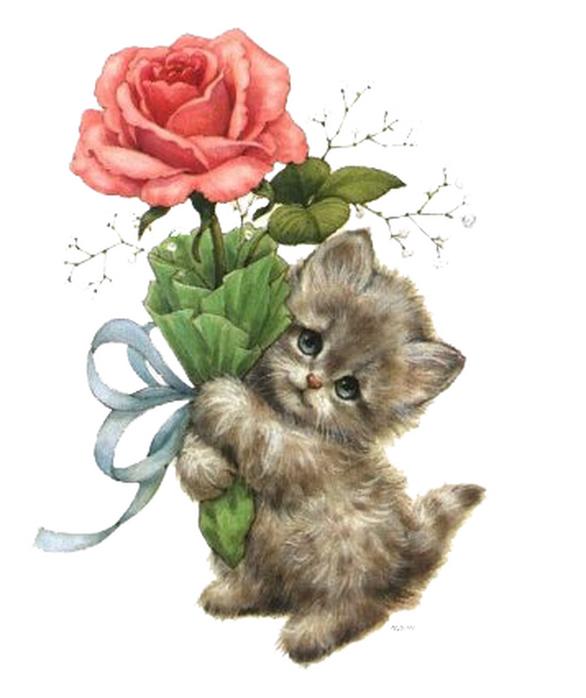 Открытки 8 марта с котятами