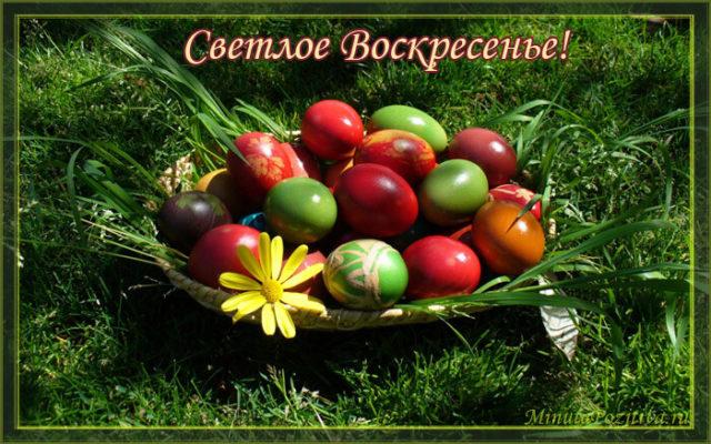 Пасха открытки яйца