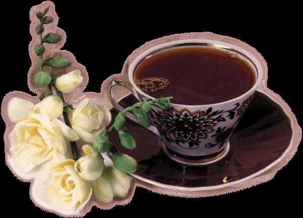 Кофе и цветы - картинки с Добрым утром
