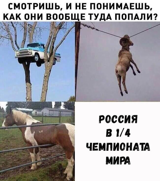 Приколы про сборную России на ЧМ по футболу 2018