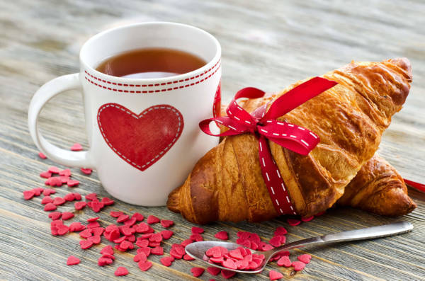 Кофе и круасан - красивые картинки с кофе