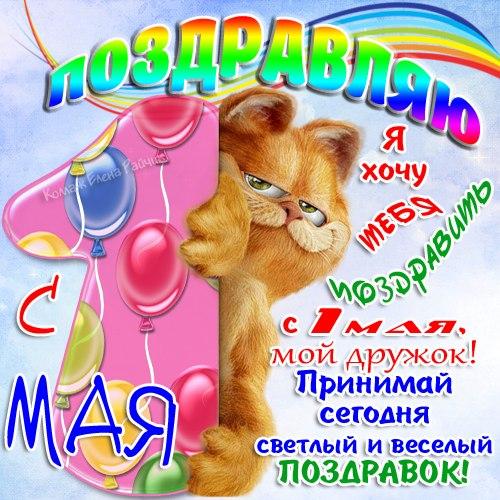 Прикольные поздравления с 1 мая Елены Райчик