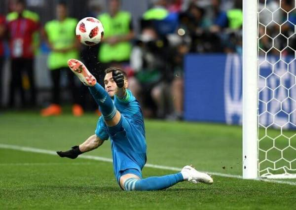 Сейв Акинфеева на матче Россия-Испания
