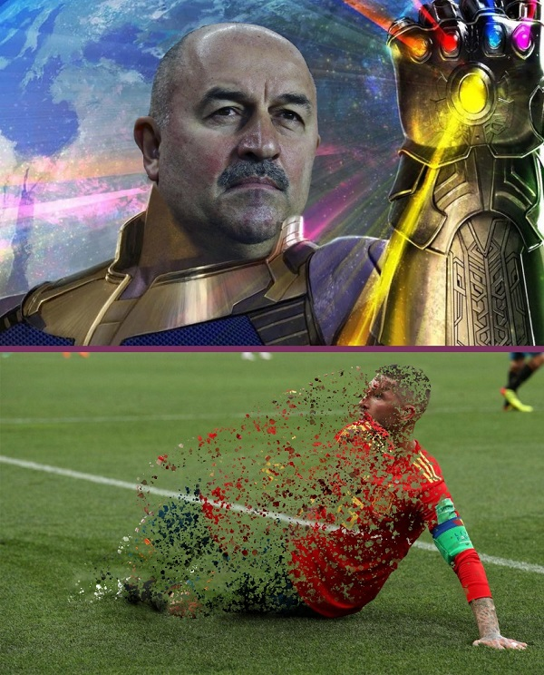 Приколы про победу сборной России над Испанской сборной