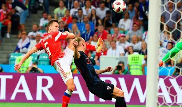 Гол Черышева матч Россия-Хорватия
