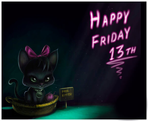 Прикольные картинки Пятница-13 кошки