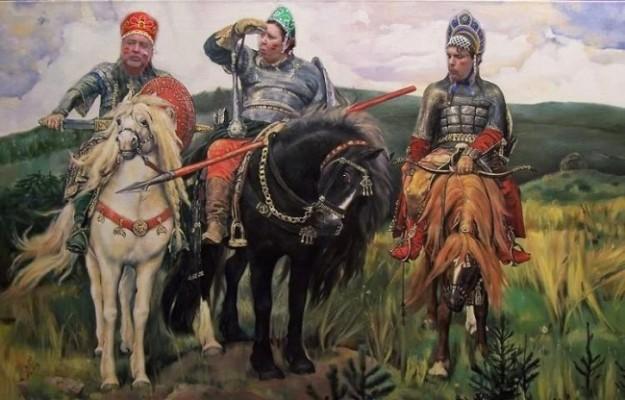 Болельщики трое в кокошниках - мемы про ЧМ-2108