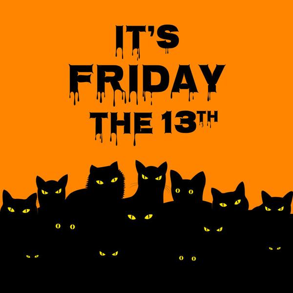 Пятница 13 с черными котами картинки