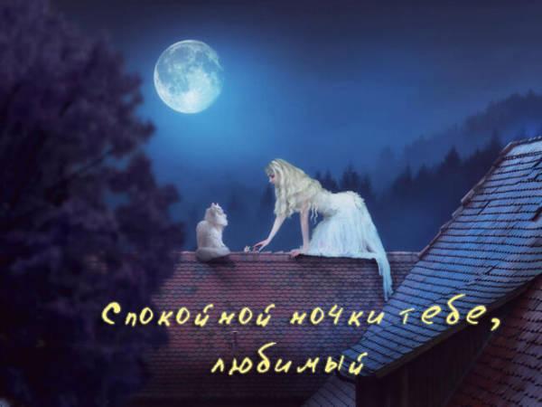 Спокойной ночи любимый картинки
