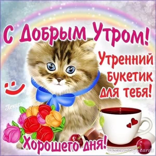 Милые картинки с Добрым утром с котятами