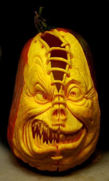 Пугающие тыквы Хэллоуин