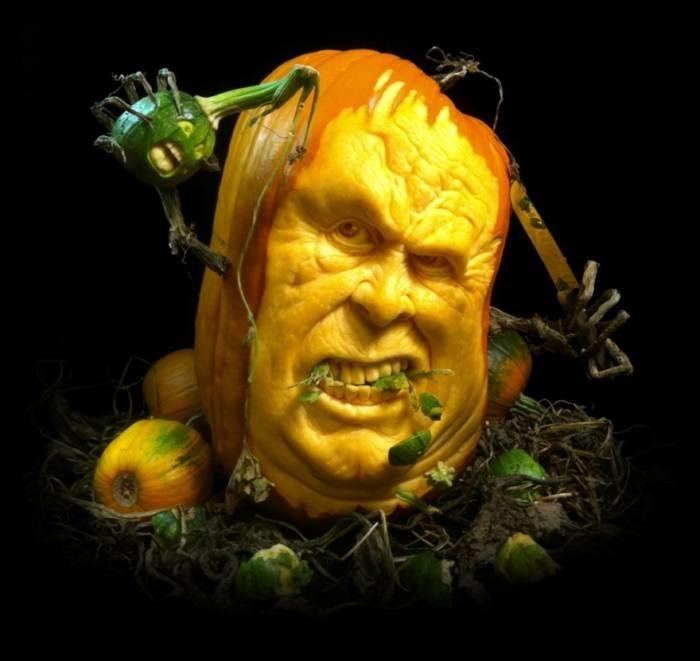 Страшные тыквы на Хэллоуин