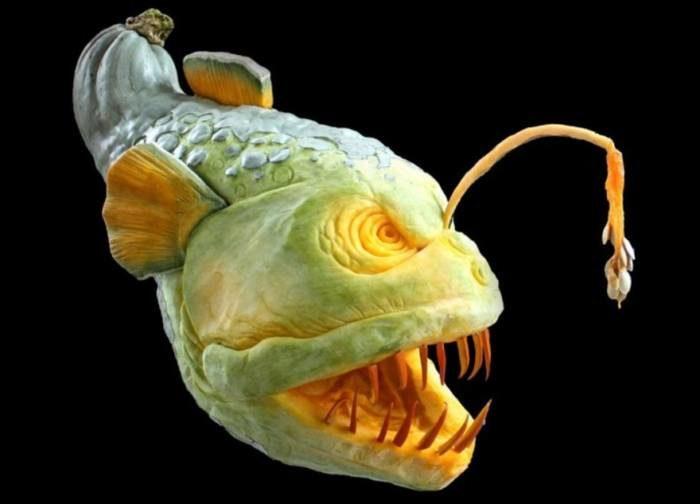 Самые удивительные скульптуры из тыквы (тыквенная резьба Рэя Вильяфане )