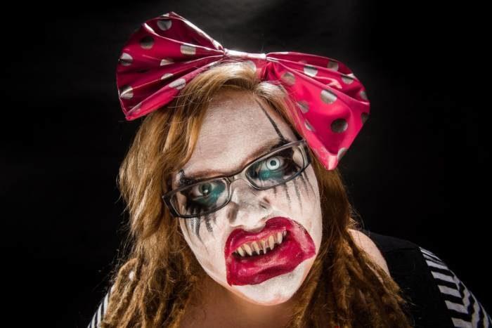 Страшные картинки на Хэллоуин - страшные лица фото