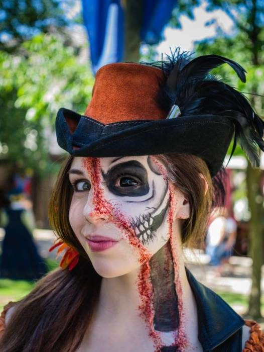 Страшные лица на Хэллоуин картинки и фото