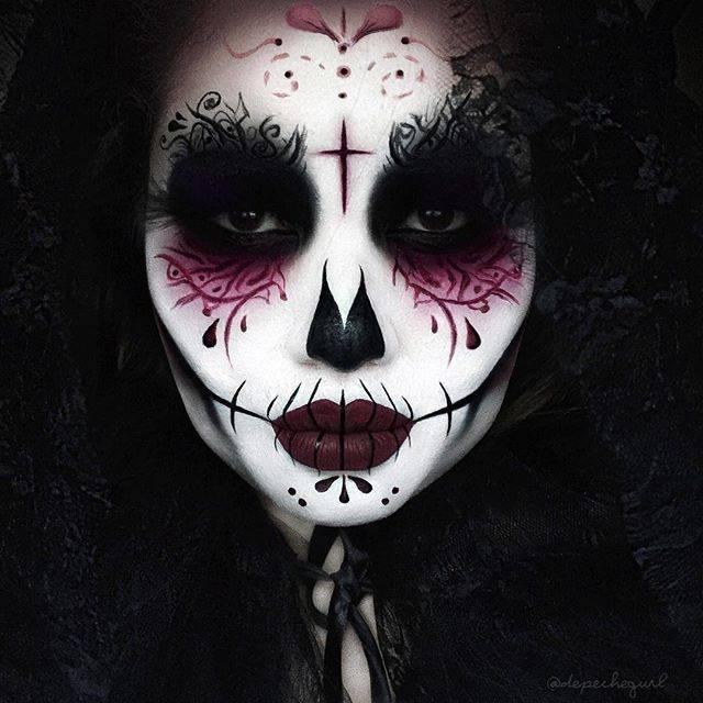 Страшные картинки на Хэллоуин - страшные лица