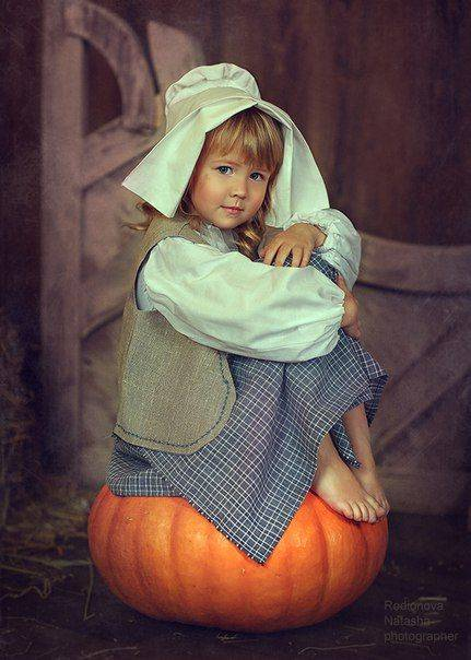 Красивые картинки ан Хэллоуин - девочка и тыква