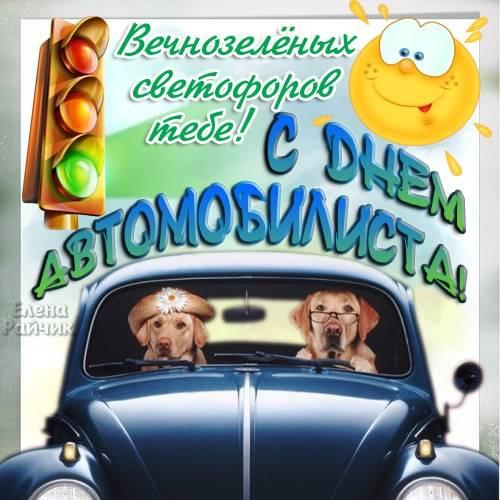 Самые красивые открытки с Днем автомобилиста Елены Райчик