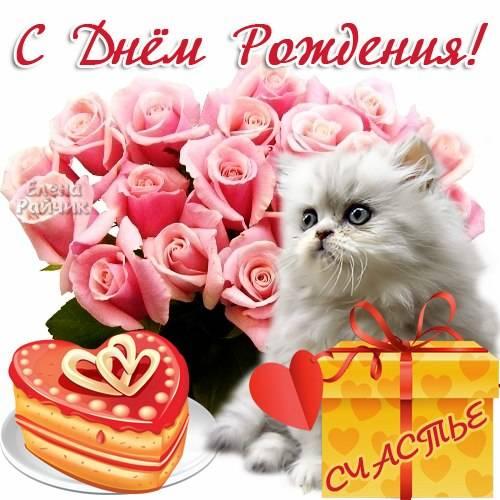 С Днем рождения девушке - картинки красивые и прикольные от Елены Райчик