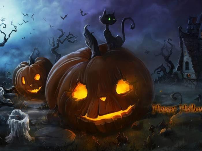 Хэллоуин - страшные тыквы картинки скачать