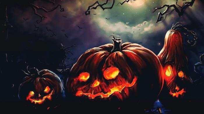 Картинки страшные на Хэллоуин с тыквой