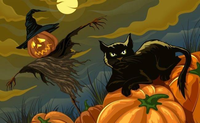Красивые и прикольные картинки на Хэллоуин скачать