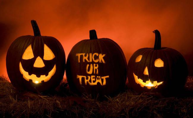 Страшные тыквы на праздник Хэллоуин