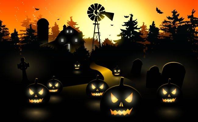 Страшные и мрачные картинки на Хэллоуин